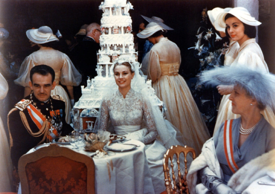 Grace Kelly at her wedding