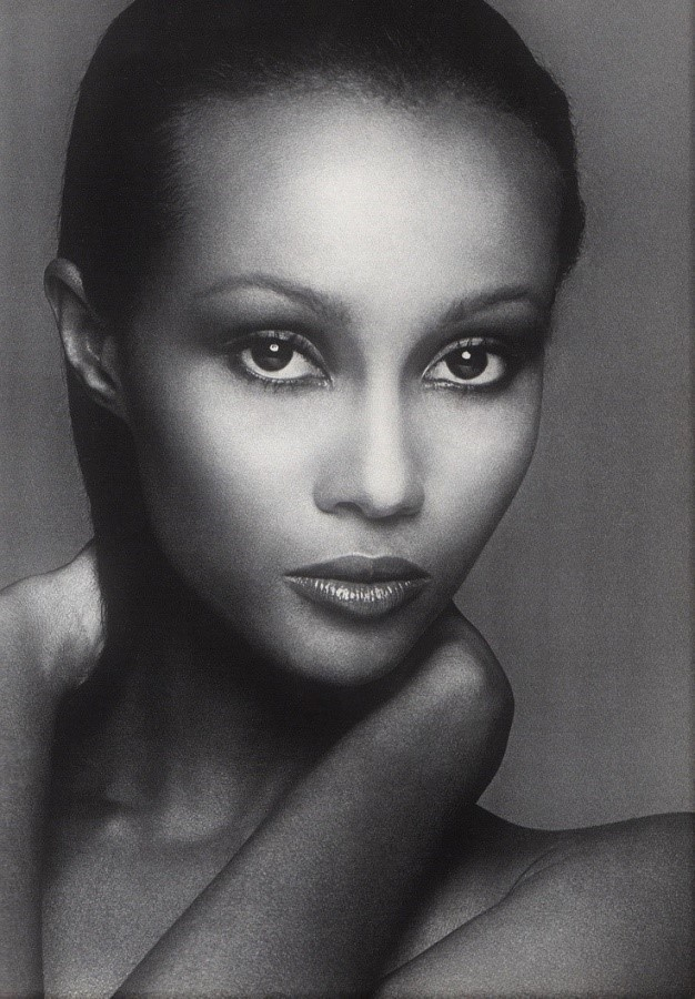 iman black and white