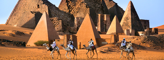 Ancient Nubian Pyramids in Sudan, Africa