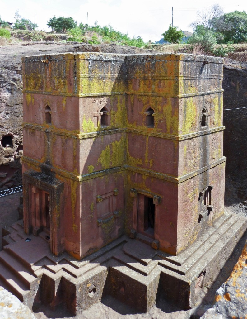 Lalibela and its 12th-13th century rock-cut Christian churches in Ethiopia, Africa