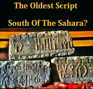 Oldest script south of the Sahara 00