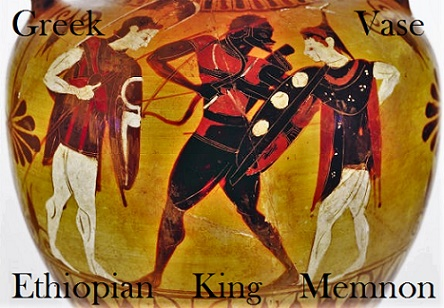 african on greek vase Memnon ethiopian king