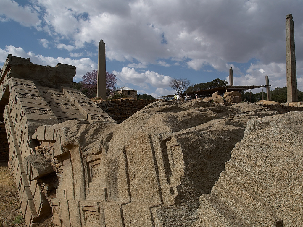 Aksum the ancient city with tombs & the largest megalithic obelisks in Ethiopia, Africa