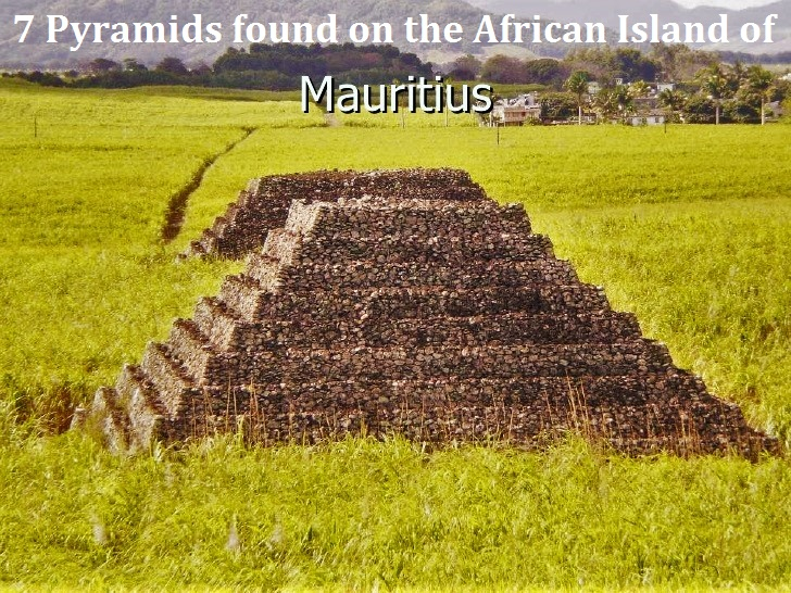 7 Pyramids found off the coast of South East African Island of Mauritius