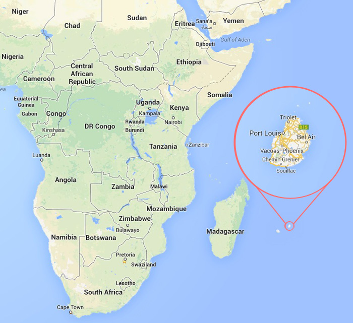 Pyramids Found Off The Coast Of South East African Island Of - Mauritius location in world map
