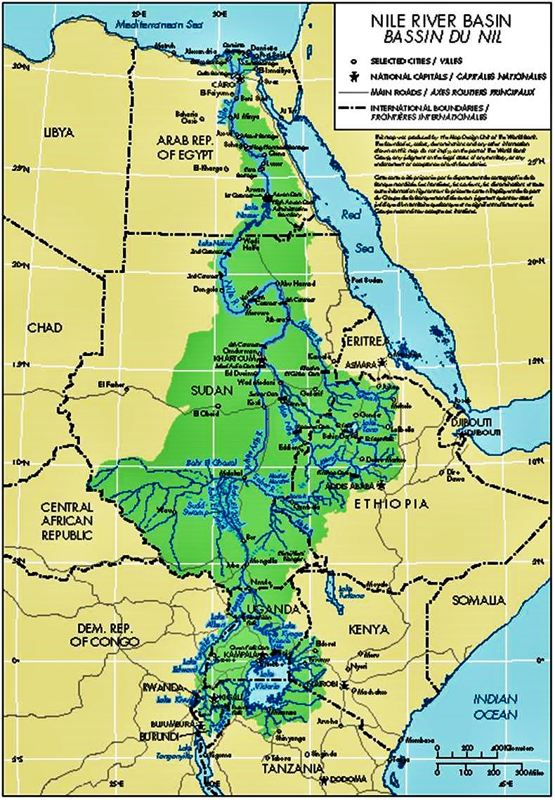 nile river map 2000