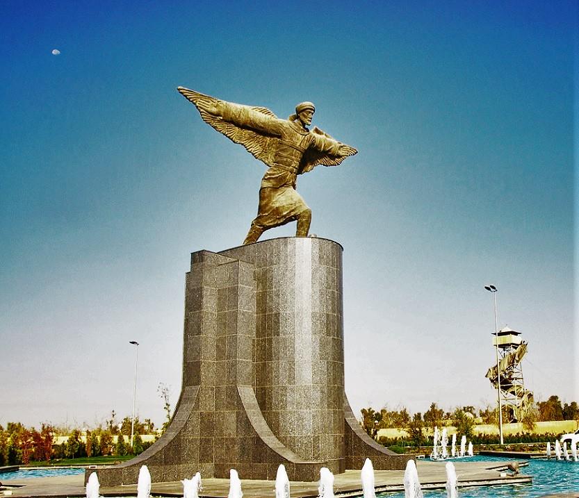 Abbas Ibn Firnas Statue Baghdad air port 0