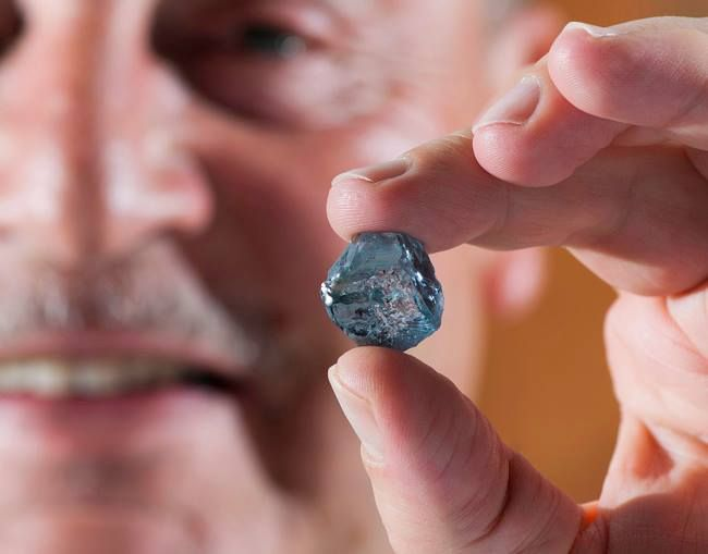 Rare blue diamond found in South Africa