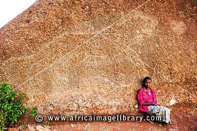 Gobu Dura (Gobedra) Lion , Axum, Ethiopia