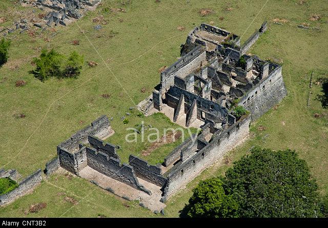 CNT3B2 Ruins of Kilwa Kisiwani, aerial view Lindi Region, Tanzania