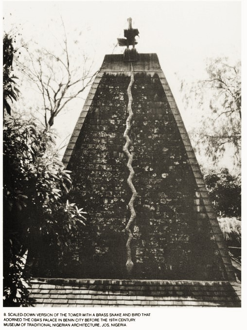 A photo of the Oba's Pyramid before the 19th century in Benin, Nigeria