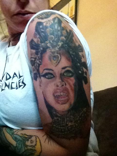 queen akasha tattoo 0