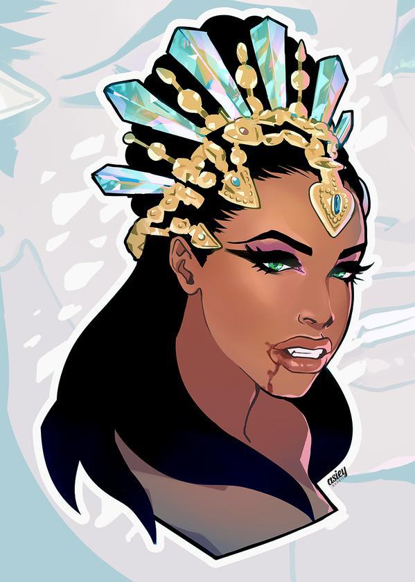 queen akasha tattoo 07