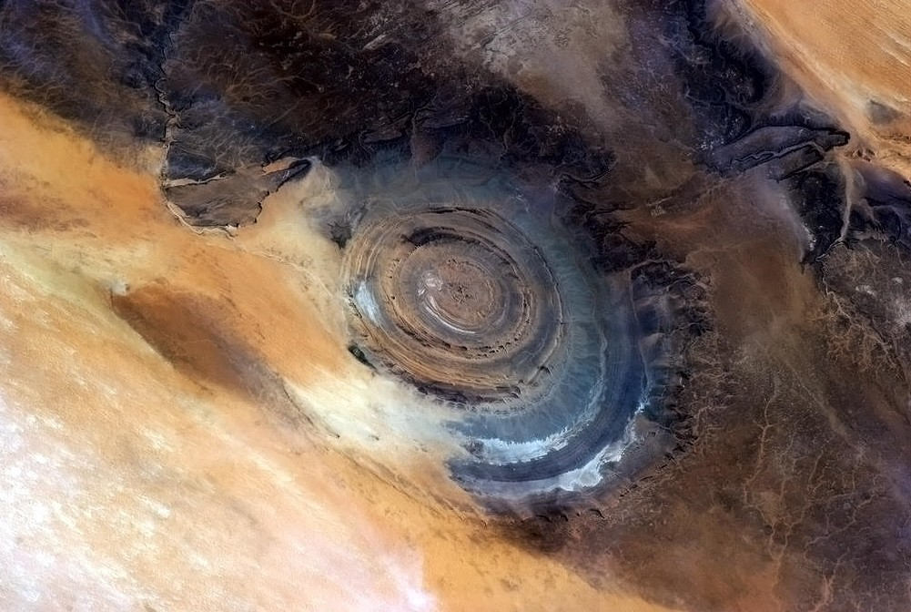 Estimated bt 98.2 – 2.6 Million Years Old: The Blue Eye Of The Sahara, Africa