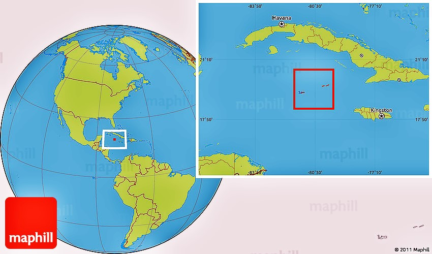 Savanna style location map of Cayman Islands.