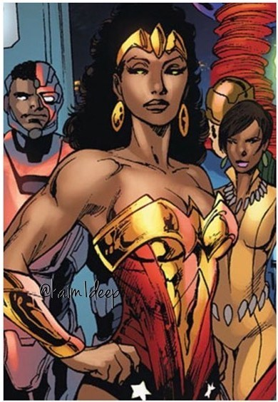 nubia wonder womans black twin sister