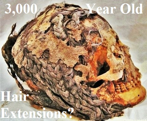 3000 year old hair extension mummy 100