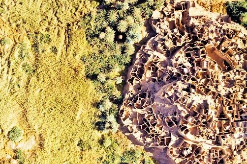 The ruins of a salt city in Djado.