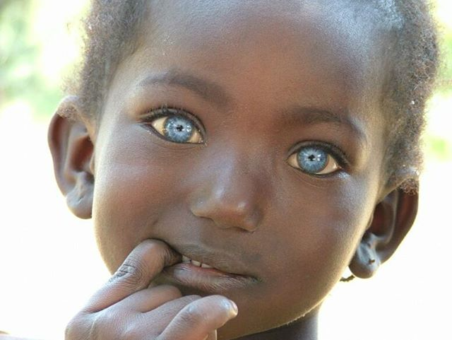 Little girl in Gambia