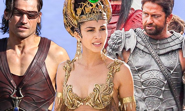 May 27, 2014: Gerald Butler & Elodie Yung in costume on the Sydney, Australia set of 'Gods Of Egypt' filming on location...Mandatory Credit: INFphoto.com Ref: infausy-10/17|sp|