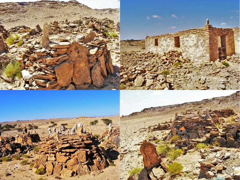 Ancient burial structures of former Kings from Qa'ableh, Somali, Africa