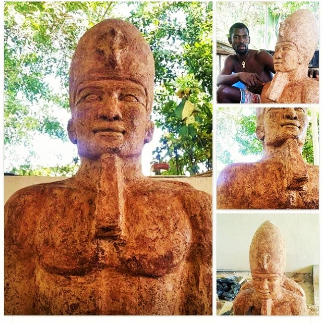 A Statue Of An Egyptian King Sculpted