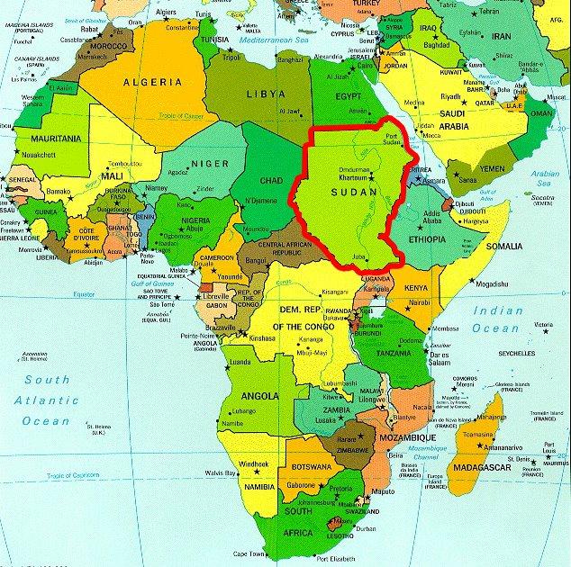 map of sudan 102