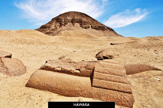 pyramid at hawara egypt