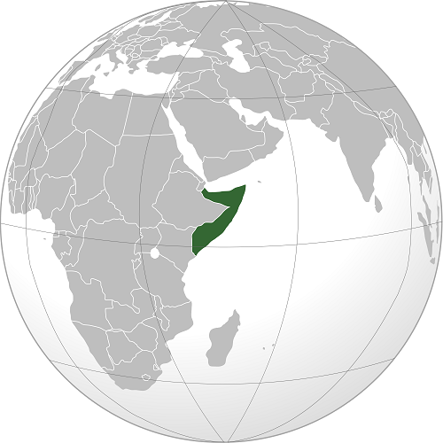 somalia world map