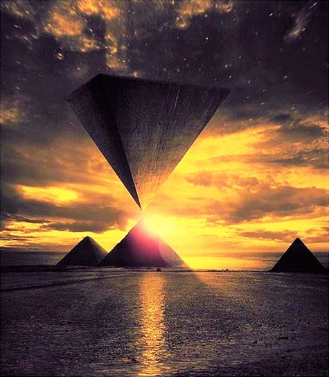 whimsical egyptian pyramid art 106