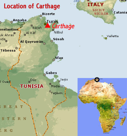Carthage world map