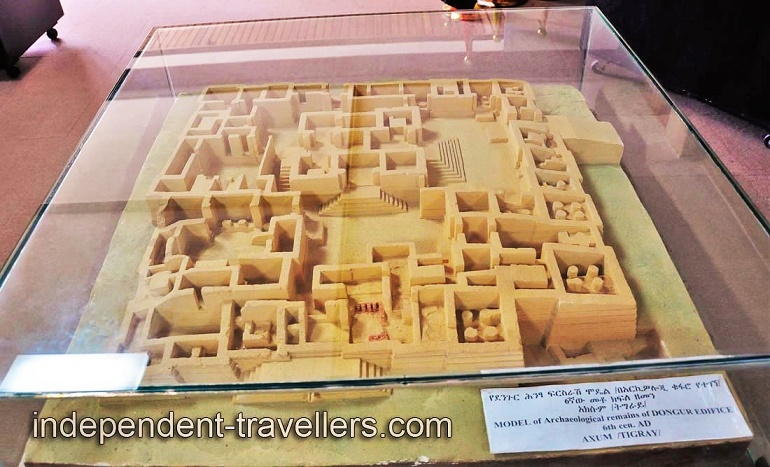 Model of Archaeological remains of Dongur Edifice, 6th century AD (Axum, Tigray)