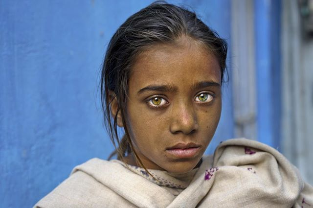 indian girl with green eyes