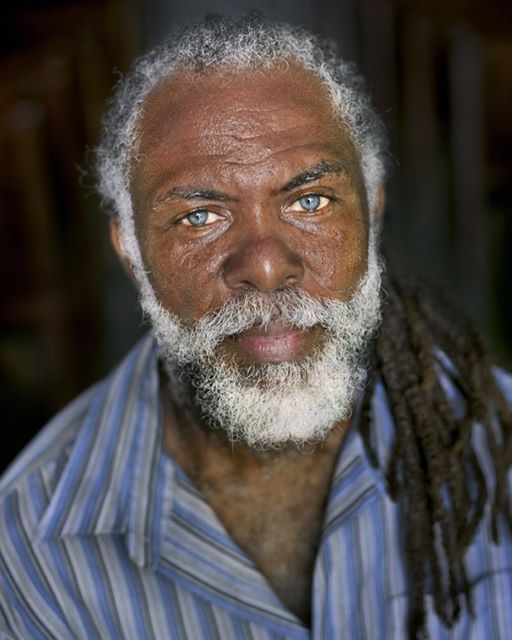 jamaican man with blue eyes