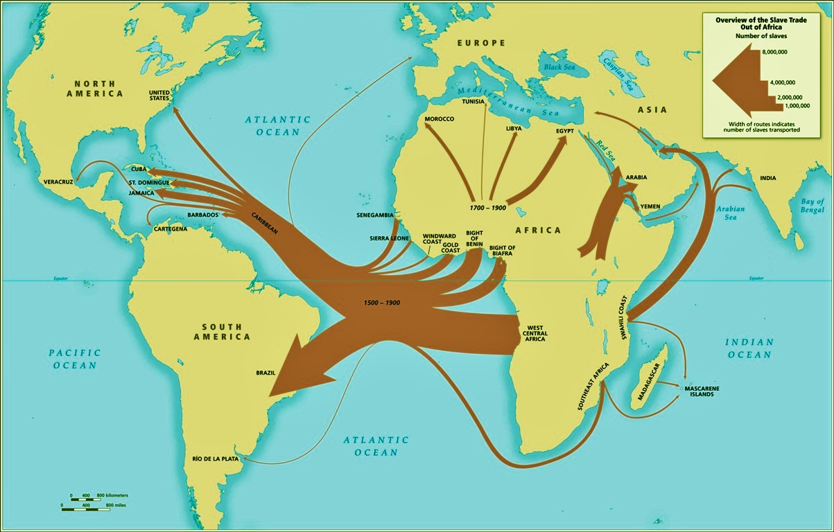 African descendants map