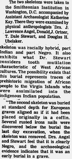 Virgin Islands, Hull Bay negroid Skeletons 10