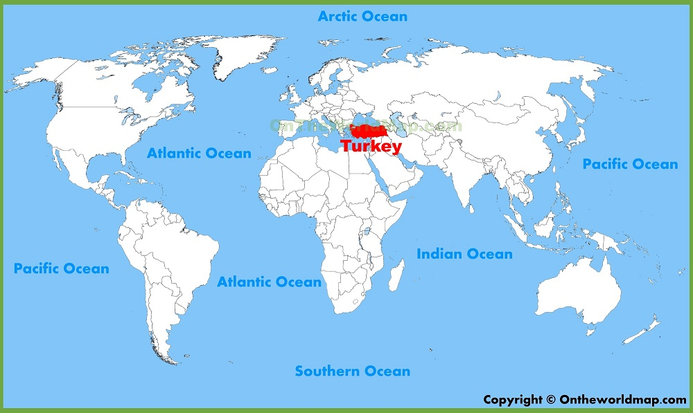 turkey on world map 201