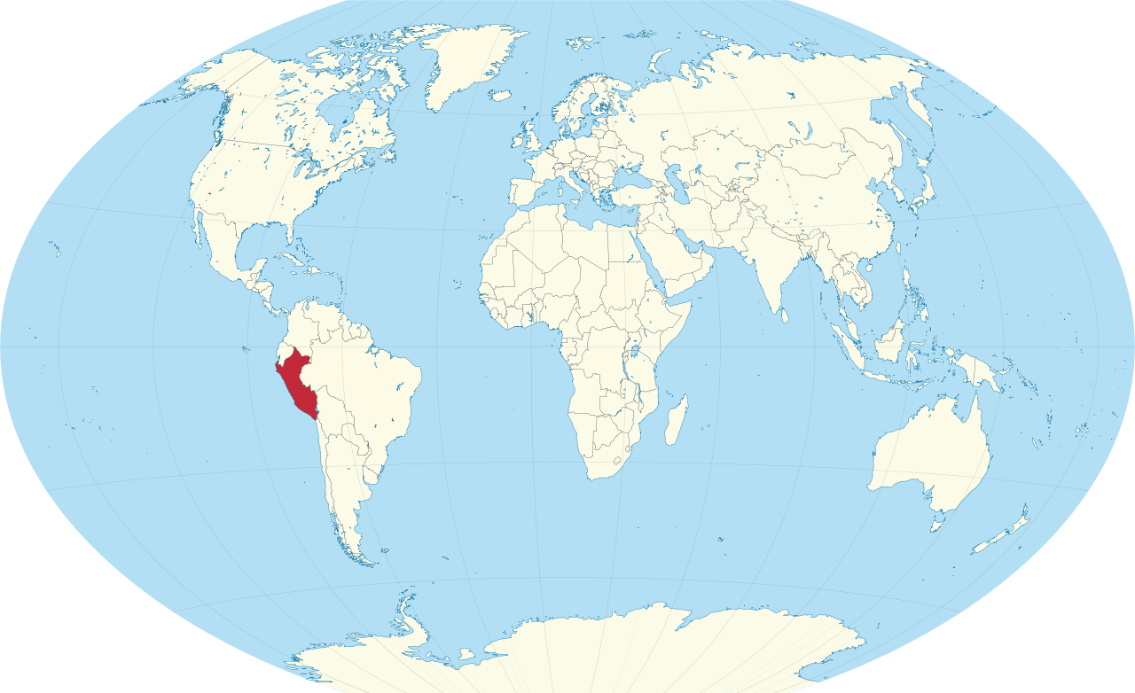 world map of Peru