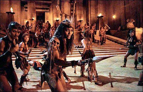 Actress Sherri Howard as Queen Isis