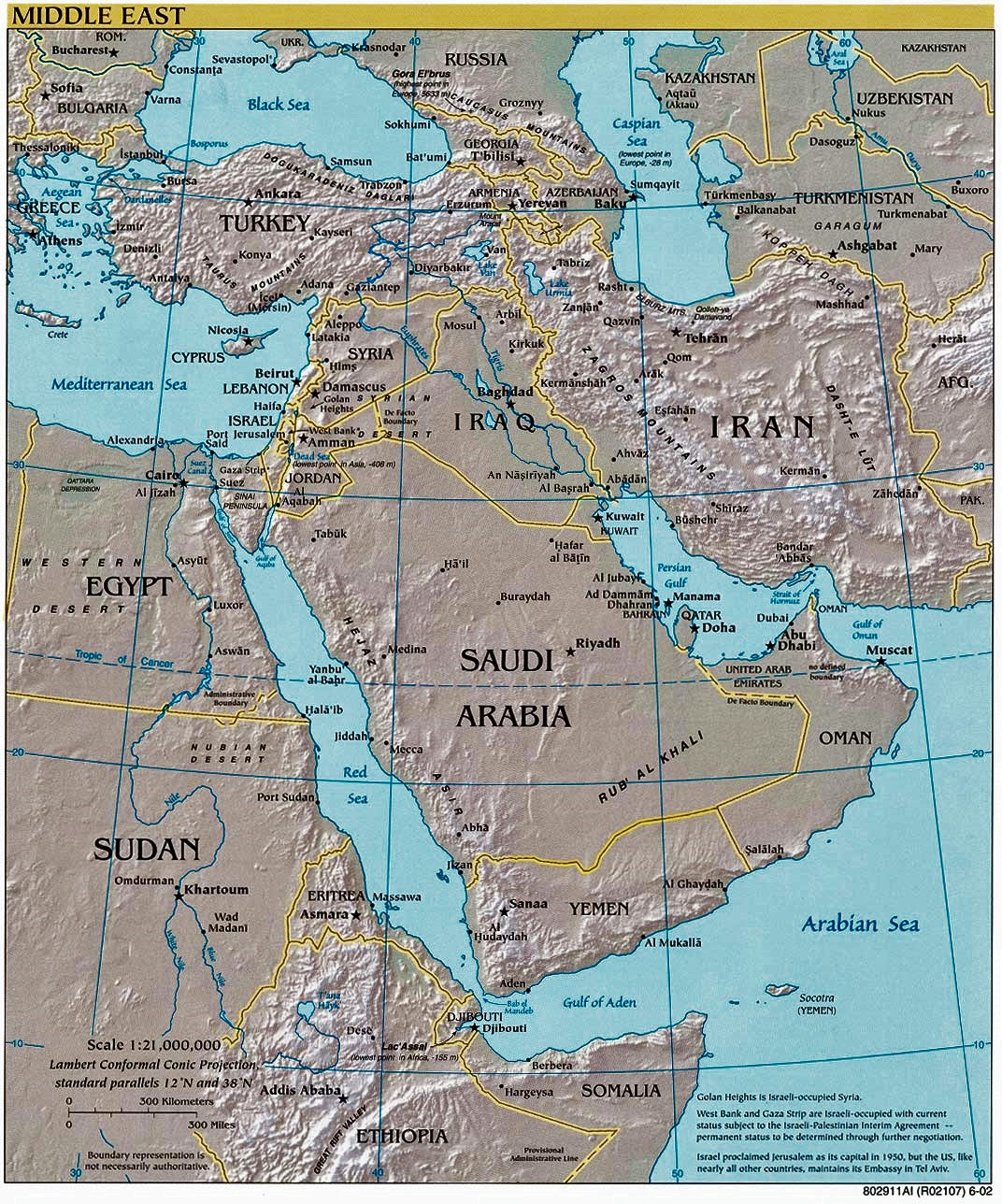 Egypt Israel Iraq map
