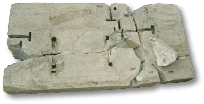 Key stone cuts in the Acropolis Parthenon Fragment