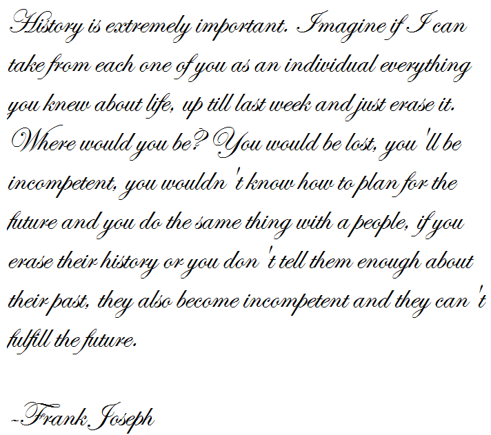 Where would you be frank joseph quote