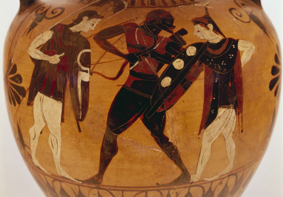 african on greek vase