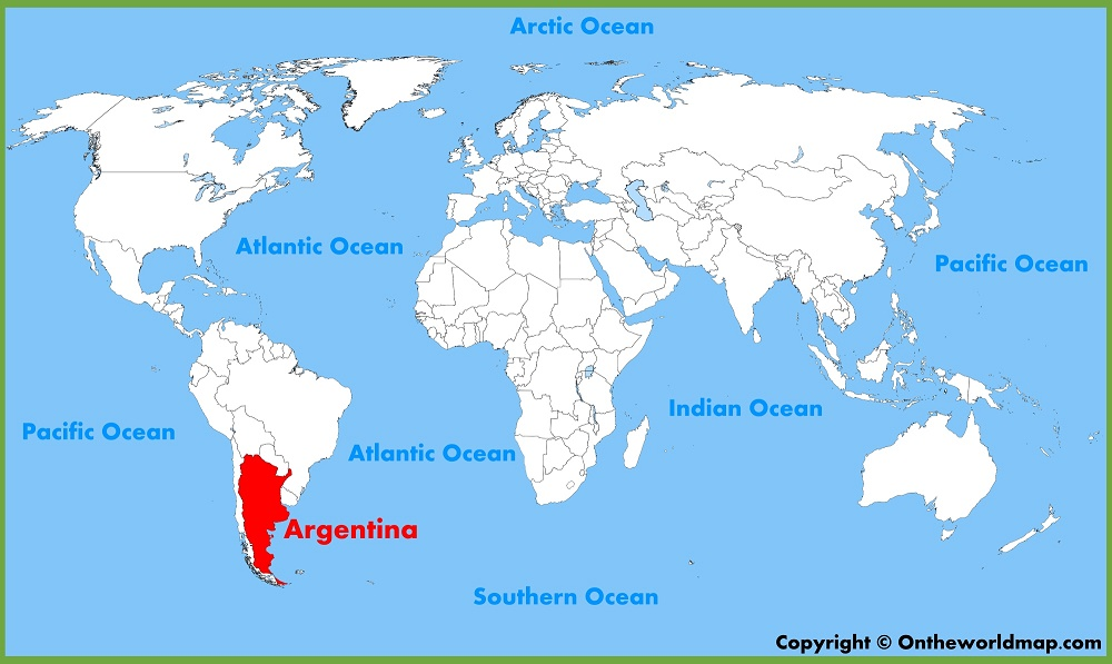 argentina world map