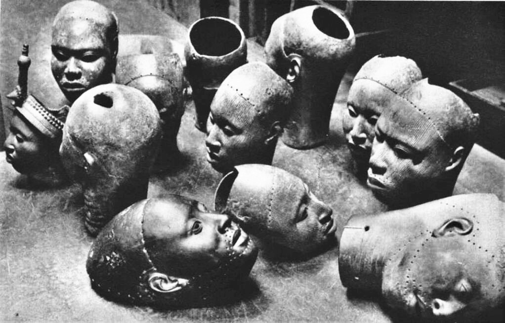 Ancient Wunmonije Bronze Heads