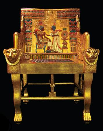 tutankhamen gold chair