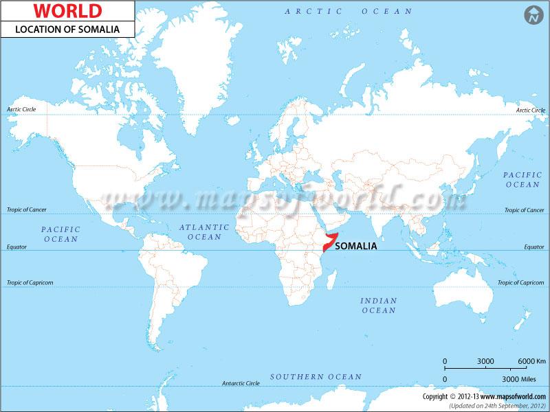 world map of somalia