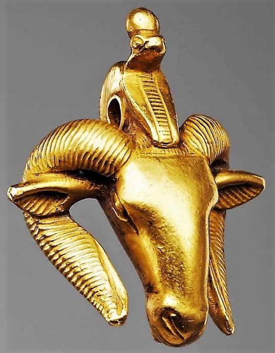 Ancient Gold Ram's-head Pendant