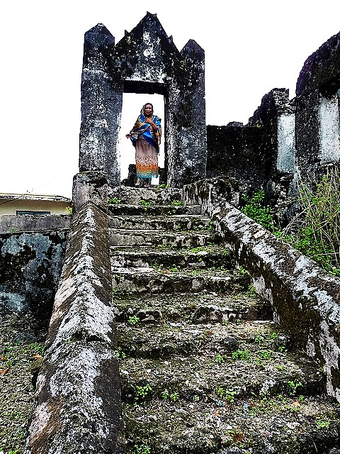 Ruins of Funi Aziri Bangwe from Comoros, Africa