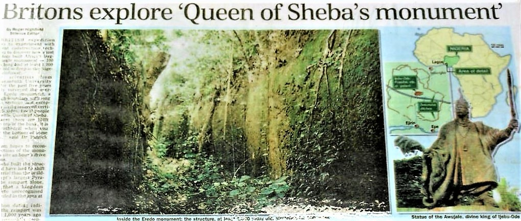 Sungbo's Eredo Defensive Walls From West Africa circa 1000 AD?